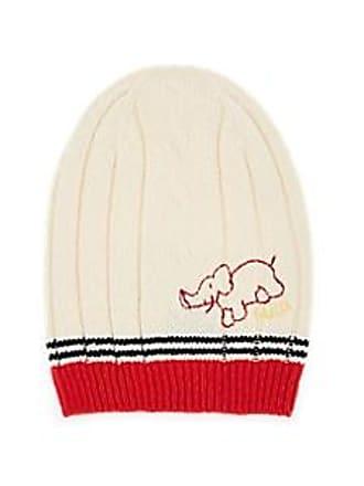 Gucci Mens Logo-Elephant Mixed-Knit Wool Slouchy Beanie - Ivorybone Size M a12b7963c06