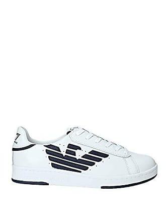 1439049729 Emporio Armani EA7 Millenium U Sneaker Herren Weiss - 45 1/3 - Sneaker Low