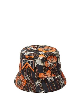 69e45d13 Prada Metallic Floral Jacquard Bucket Hat - Womens - Orange