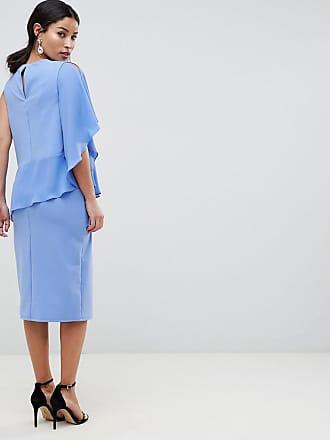 3521353fedf Asos Maternity ASOS DESIGN Maternity Nursing one shoulder double layer  dress - Blue