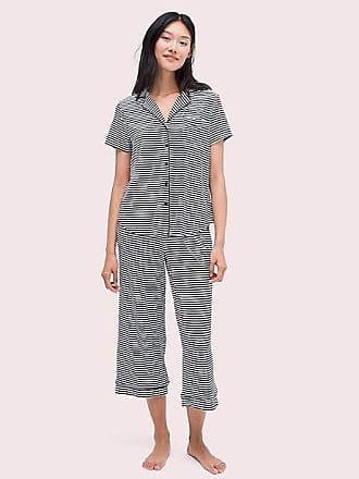 4d8bb3d1517b36 Kate Spade New York Stripe Black & White Long Pj Set, Black/White -