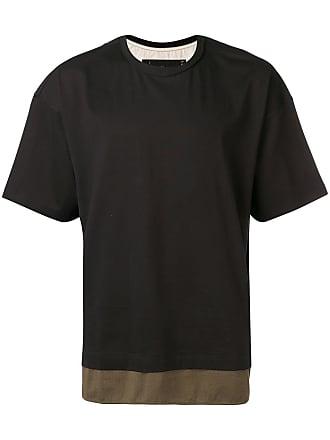 Ziggy Chen two tone T-shirt - Black