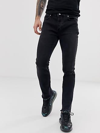 Bolongaro Trevor raw edge ripped skinny fit jeans - Black