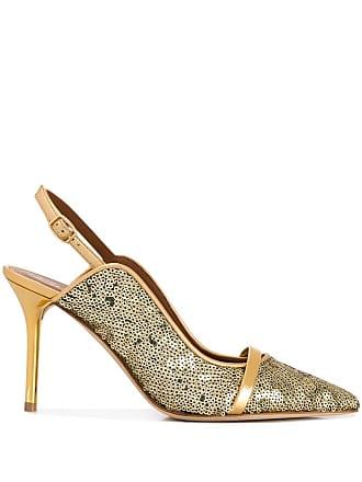 Malone Souliers Sapato com tira posterior - Dourado