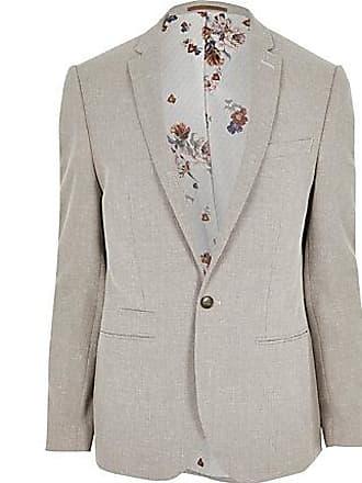 River Island Mens Big and Tall ecru suit jacket