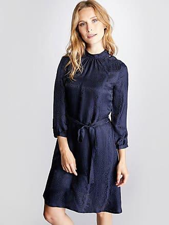 4698c2d5bbe9 Cyrillus Damen-Kleid, Jacquard-Schlangen-Muster jacquard blau