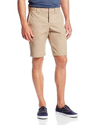Dickies Mens 11 Inch Slim Fit Stretch Twill Work Short, Desert Sand, 29