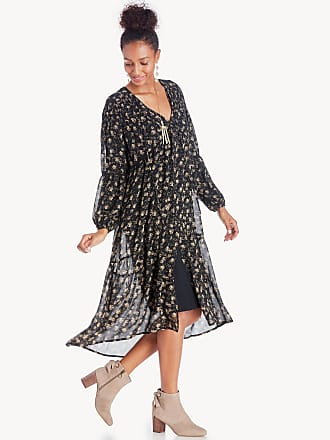 Astr Womens Ambrosia Dress In Color: Black Tan Floral Size XS From Sole Society