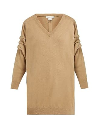 Queene and Belle Queene And Belle - V Neck Cashmere Sweater - Womens - Camel