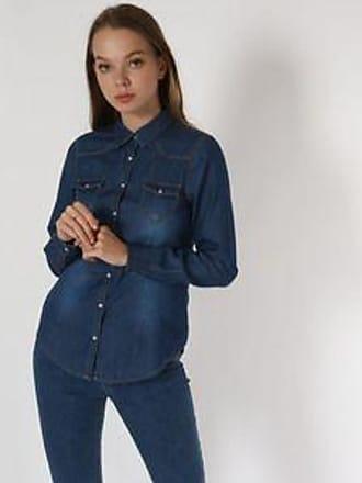 Springfield Camisa de Mezclilla con Deslavado<br>Azul