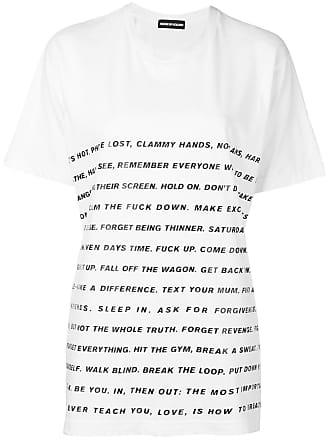 House Of Holland Camiseta com estampa de slogan - Branco