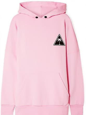 Palm Angels Printed Cotton-jersey Hoodie - Baby pink