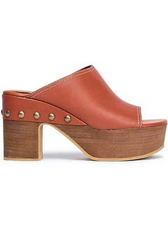 f737125e1d5e Delivery  free. See By Chloé See By Chloé Woman Studded Leather Clogs Brick  Size 37