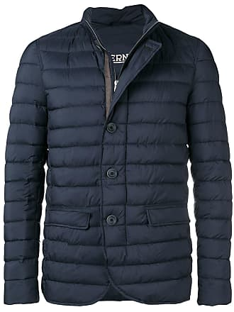 Herno quilted high neck jacket - Blue