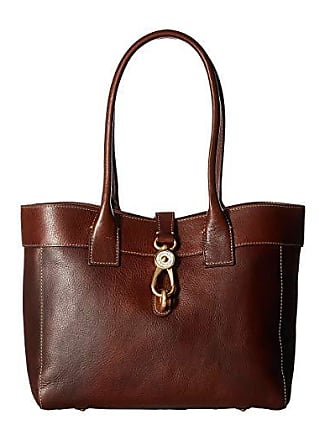 Dooney & Bourke Florentine Classic Large Amelie Shoulder Bag (Chestnut/Self Trim) Shoulder Handbags