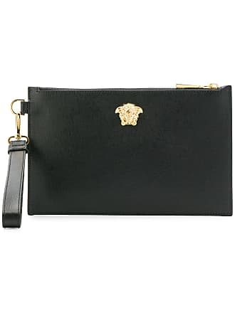 3f0693533942 Versace medusa head clutch bag - Black