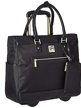 Kenneth Cole Reaction Kenneth Cole Reaction Womens Runway Call 17 Laptop Anti-Theft RFID Wheeled Business Carry-On Tote, Black