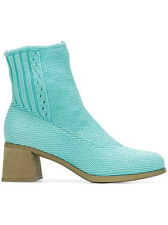 Camper Ankle boot de couro e algodão - Azul