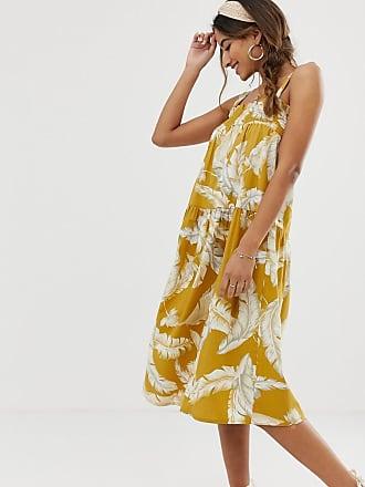 d6f6cd3c80ba Asos Solklänning i bomull och midilängd med palmmönster - Palmmönster