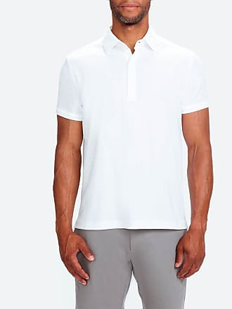 eed224edf Ministry of Supply Mens Optic White Stretchy Breathable and Wrinkle Free  Apollo 3 Polo Shirt XXXL