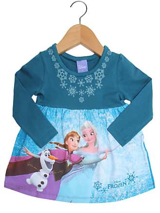 Brandili Vestido Brandili Disney Manga Longa Baby Menina Frozen Azul