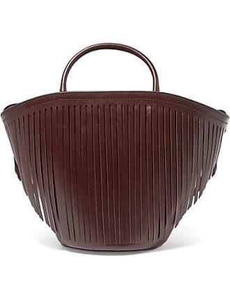 Trademark Fringed Leather Tote - Burgundy