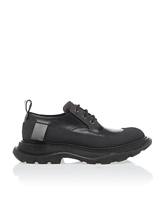 Alexander McQueen Thick-Soled Leather Shoes