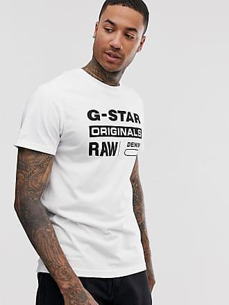 G-Star Originals - Weißes T-Shirt aus Bio-Baumwolle mit Logo