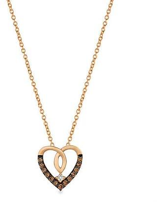 Zales Le Vian Chocolate Diamonds 1/10 CT. T.w. Diamond Heart Pendant in 14K Strawberry Gold