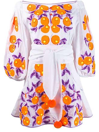 Yuliya Magdych Mandarin dress - White