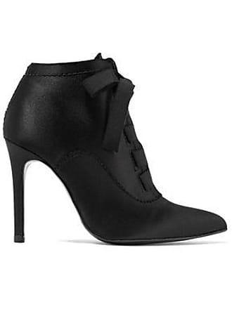 Pedro Garcia Pedro García Woman Ana Bow-detailed Satin Ankle Boots Black Size 35.5