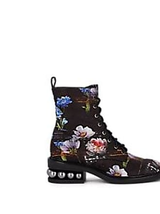 2a7d25ab893 Nicholas Kirkwood Womens Casati Silk Satin Combat Boots - Perfection Size  10.5