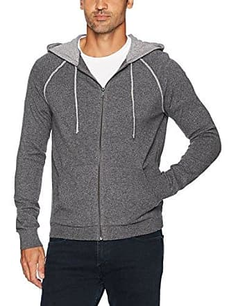 Lucky Brand Mens Welterweight Hooded Sweatshirt, Charcoal S