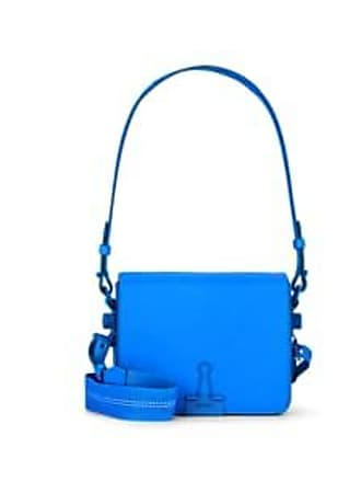 eee512415db Off-white Womens Binder-Clip Small Leather Crossbody Bag - Blue