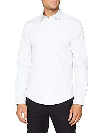 6c88b730b08f Ben Sherman LS Stretch Poplin Shirt Camicia Casual, Bianco (White 10), M