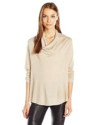 Joie Womens Mikkeline Sweater, Dusty Pink Sand/Gold, M