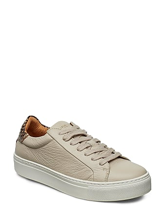 89e63f29 Selected Slfdonna New Contrast Trainer B Låga Sneakers Beige SELECTED FEMME