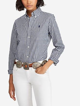 Polo Ralph Lauren Chemise à manches longues en coton motif carreaux Kendal  Blanc Polo Ralph Lauren 1a375d1e32d