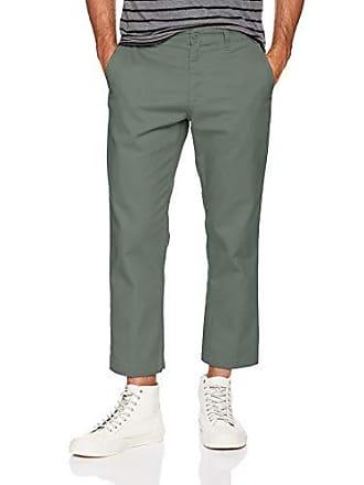 Obey Mens Straggler Slim Flooded Pants, Dusty Green, 33