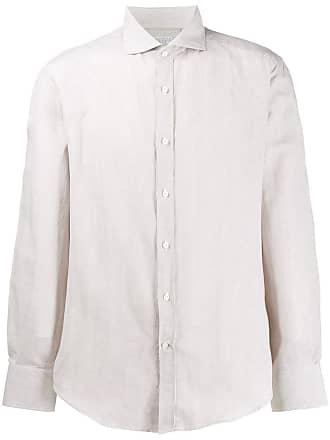 Brunello Cucinelli Camisa lisa com botões - Neutro