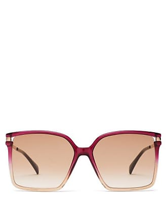 50ef31861c0d Givenchy Oversized Square Frame Acetate Sunglasses - Womens - Pink Multi