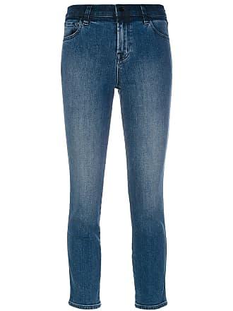 J Brand Calça jeans slim fit cropped - Azul