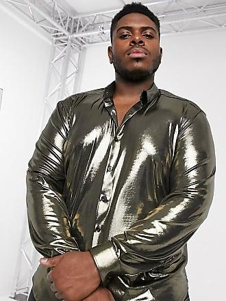 Twisted Tailor PLUS - Camicia oro metallizzato