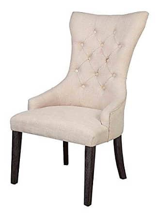 ACME ACME Furniture Gerardo Arm Chair, Beige/Weathered Espresso