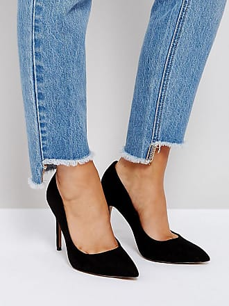 f2a389b7840 Asos Wide Fit Paris pointed high heeled pumps in black - Black
