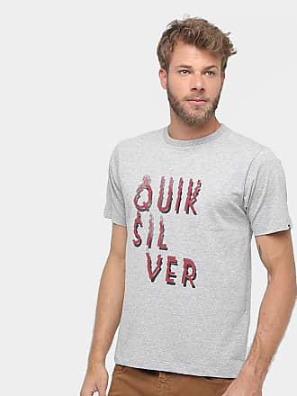 fa802b63b1ba3 Quiksilver Camiseta Quiksilver Básica Smoke Masculina - Mescla - P