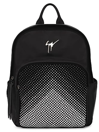 112d6a8d99916 Giuseppe Zanotti Leather backpack with silver studs CASCADE