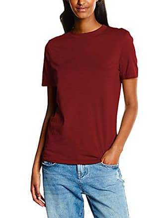 c911aeafcf6ad Selected Sfmy Perfect SS Tee-Box Cut Color, T-Shirt Femme, Rouge