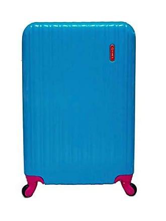 Yin's Mala de Viagem Média ABS c/Carrinho 360º Expansível Azul e Rosa YS2019ARO-M