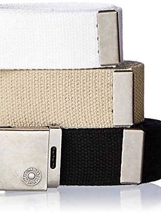 Men/'s 2-in-1 Reversible Canvas Web Belts Cut-to-Fit up to 42/' 2-Pack